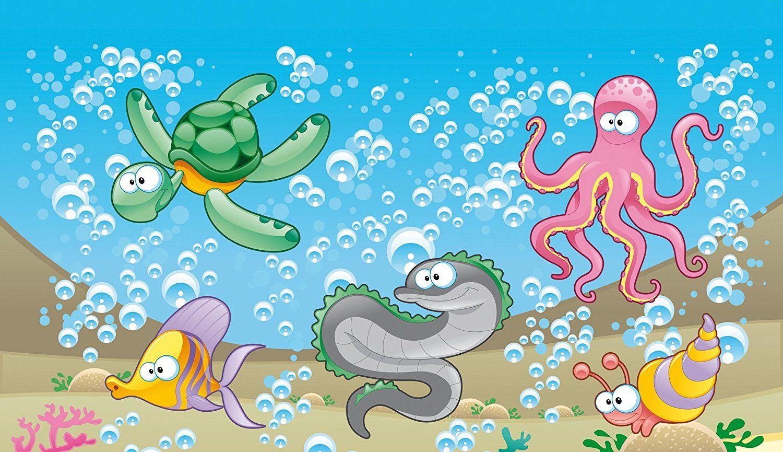 Fototapete kinderzimmer unterwasserwelt  Vlies Fototapete für das Kinderzimmer. Motiv Unterwasserwelt. Schöne ...