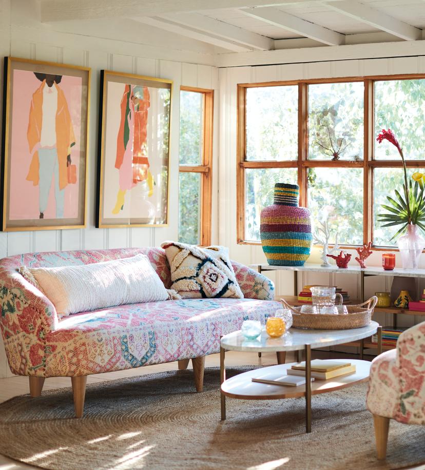 Rug-Printed Anatolia Petite Sofa en 2020 | Moderne, Motif