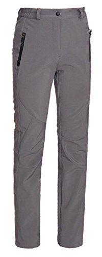 ZSHOW Womens Winter Outdoor Waterproof Ski Pants Stretch Fleece Lined Snow Pants with Elastic Waist