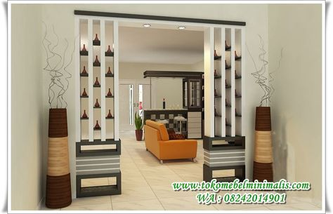Penyekat Ruangan Minimalis Modern 2017 Sekat Ruangan Minimalis Modern Partisi Ruanga Living Room Partition Design Wall Partition Design Living Room Partition