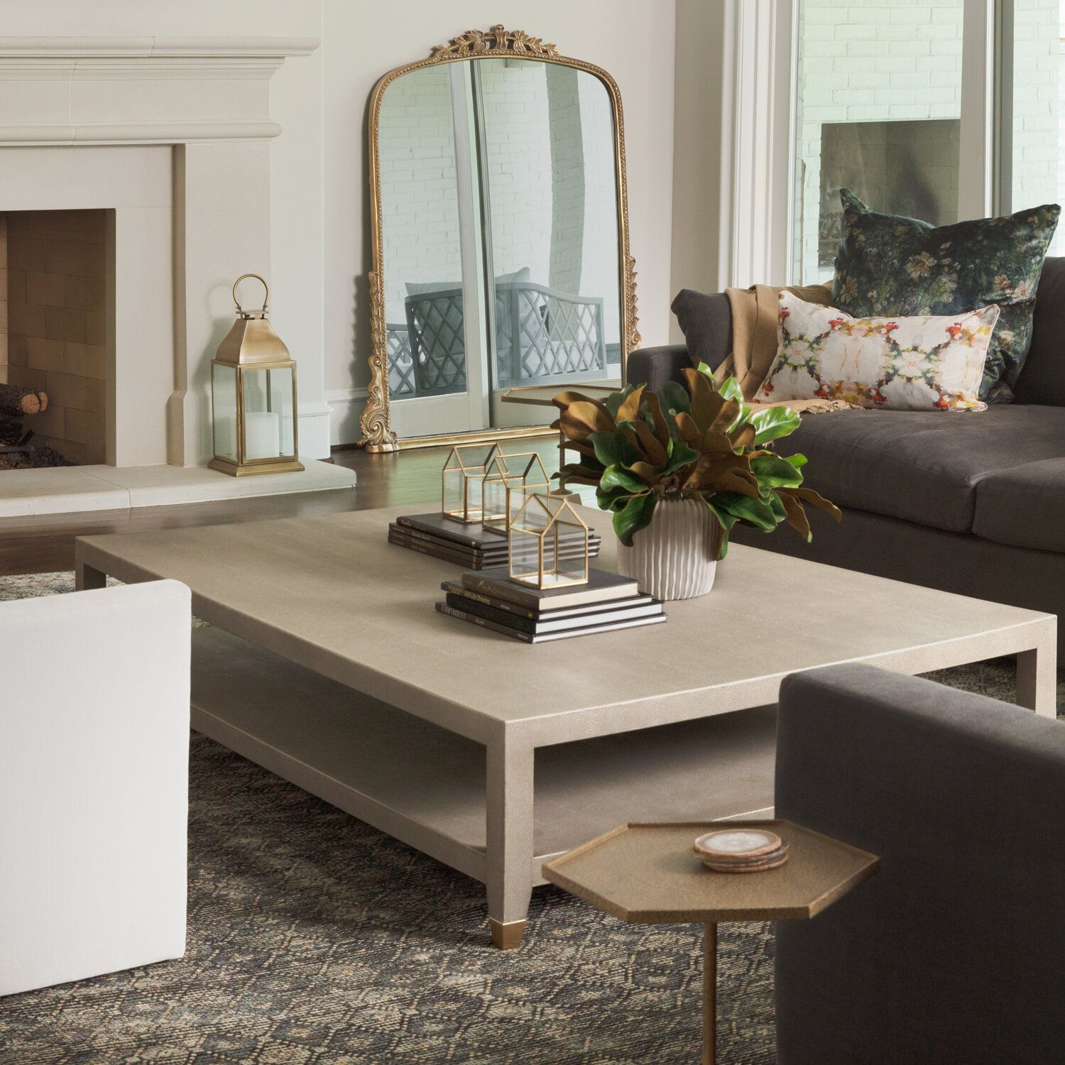 So Elegant Love A Sitting Area In A Master Bedroom By: Warm, Sophisticated Living Room