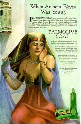 Cleopatra in Ads features a 1910 vintage ad for Palmolive BeingCleopatra.blogspot.com