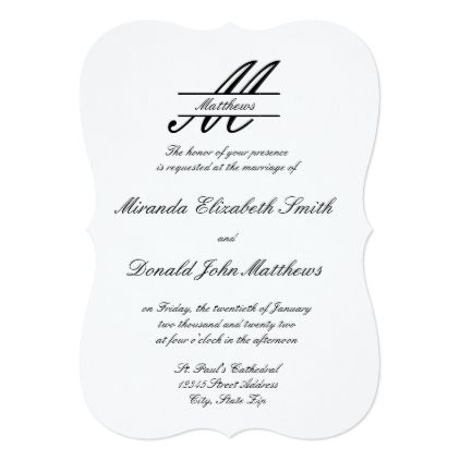 Formal Simple Elegant - Wedding Invitation Elegant wedding - Formal Business Invitation