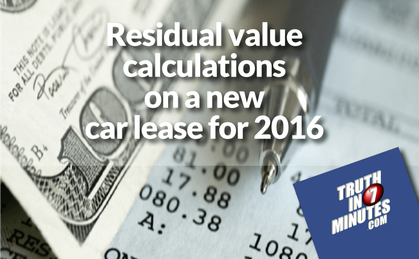 how to calculate the residual value of a car