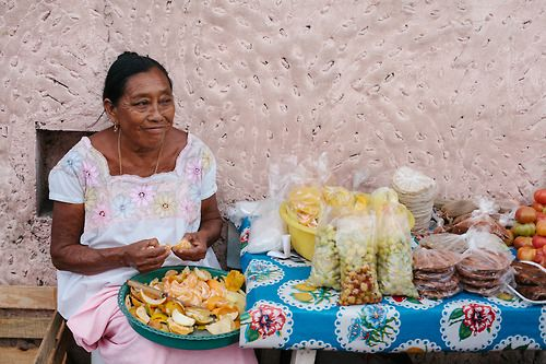 clubmonaco:  One of the many Mayan women selling different...