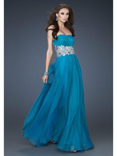 14 Stunning Strapless Prom Dresses | Pinterest | Blue dresses, Ocean ...