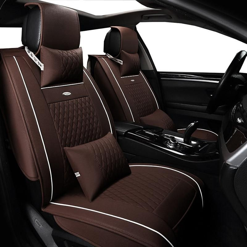 New Pu Leather Auto Universal Front Back Car Seat Covers For