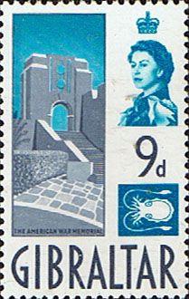 Gibraltar 1960 SG 168 American War Memorial Fine Mint Scott 155 Other Gibraltar Stamps HERE