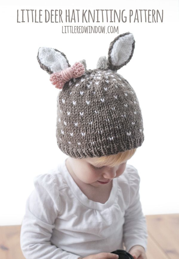 Little Deer Hat Knitting Pattern | Stricken für baby, Mütze und Stricken