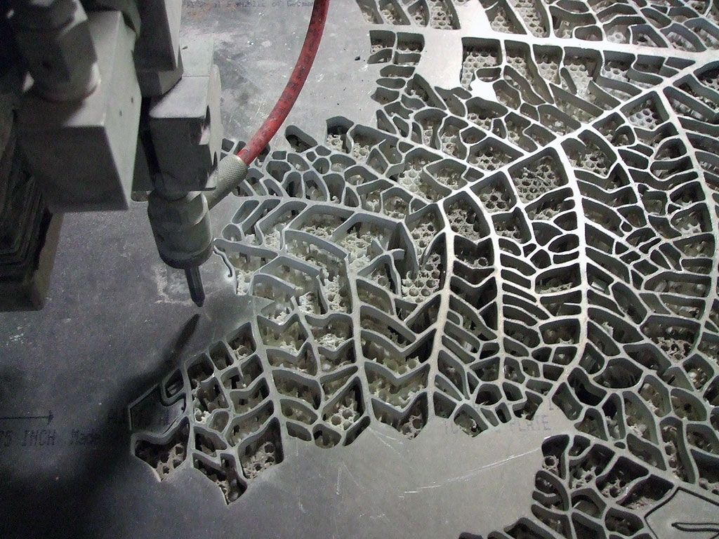 Detail Of The Water Jet Cutting Process For Jan Hendrix