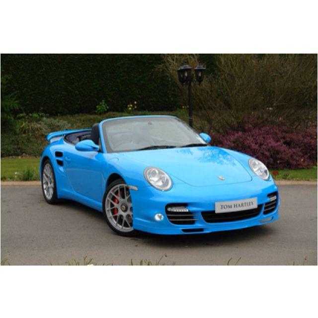 My Future Car. Baby Blue Porsche Convertible