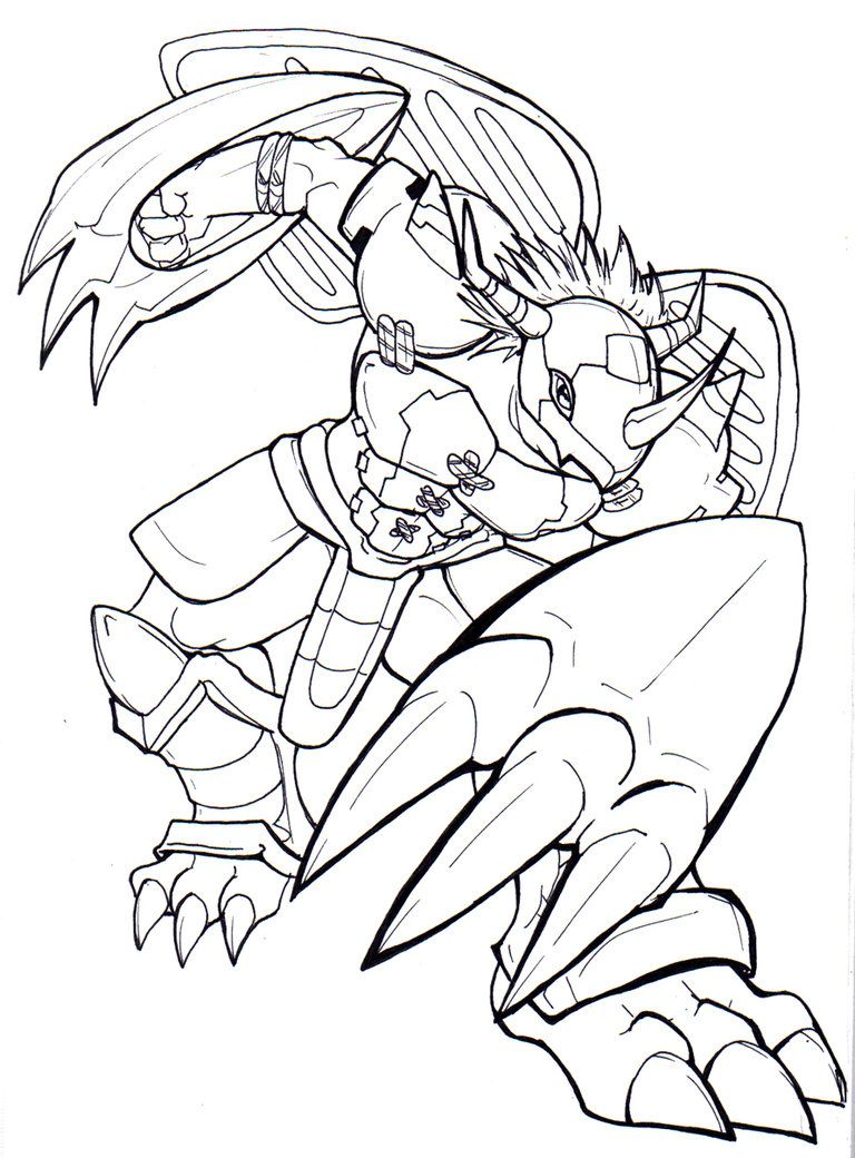 Pin On Lineart Digimon