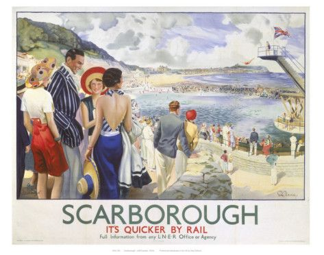 Scarborough It S Quicker By Rail Prints Allposters Com Vintage Travel Posters Railway Posters National Railway Museum