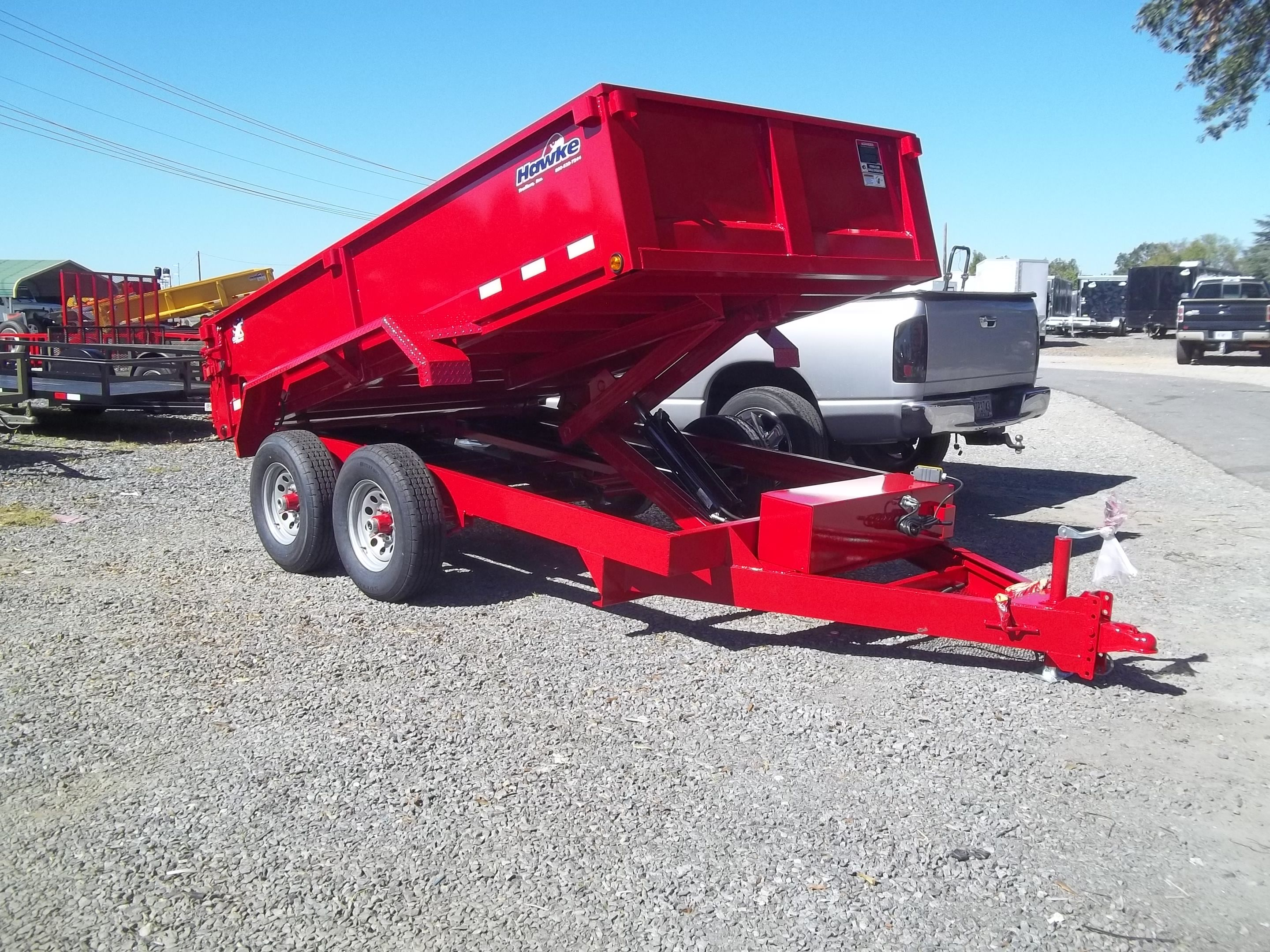 6 X 12 Dump Trailer Red Hawke Loaded 10k Gvwr By Best Trailers In
