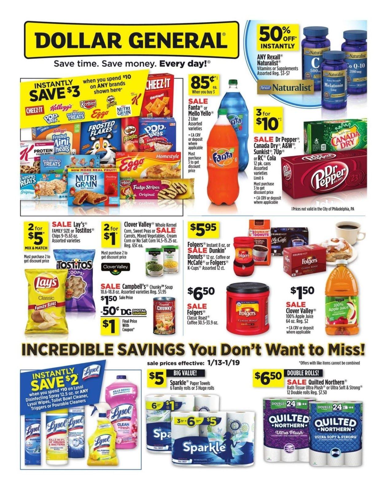 Dollar General Weekly Ad Dollar General Weekly Sale January 20