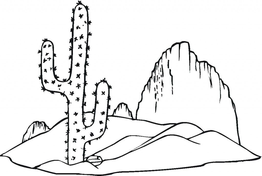 Cactus Coloring Sheet Coloring Pages To Print Coloring Pages