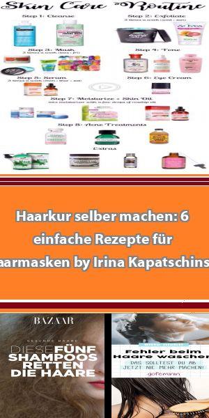 Haarkur selber machen: 6 einfache Rezepte für Haarmasken by Irina Kapatschinski… – krema