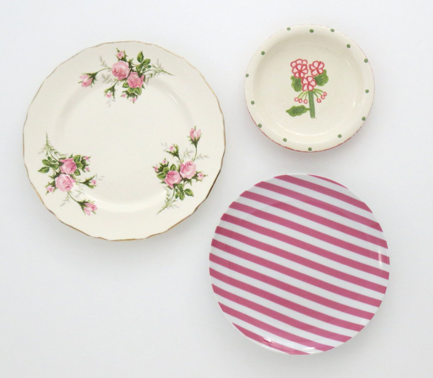 Kitchen Wall Decor, Vintage Mismatched Decorative Plates, Plate Wall ...