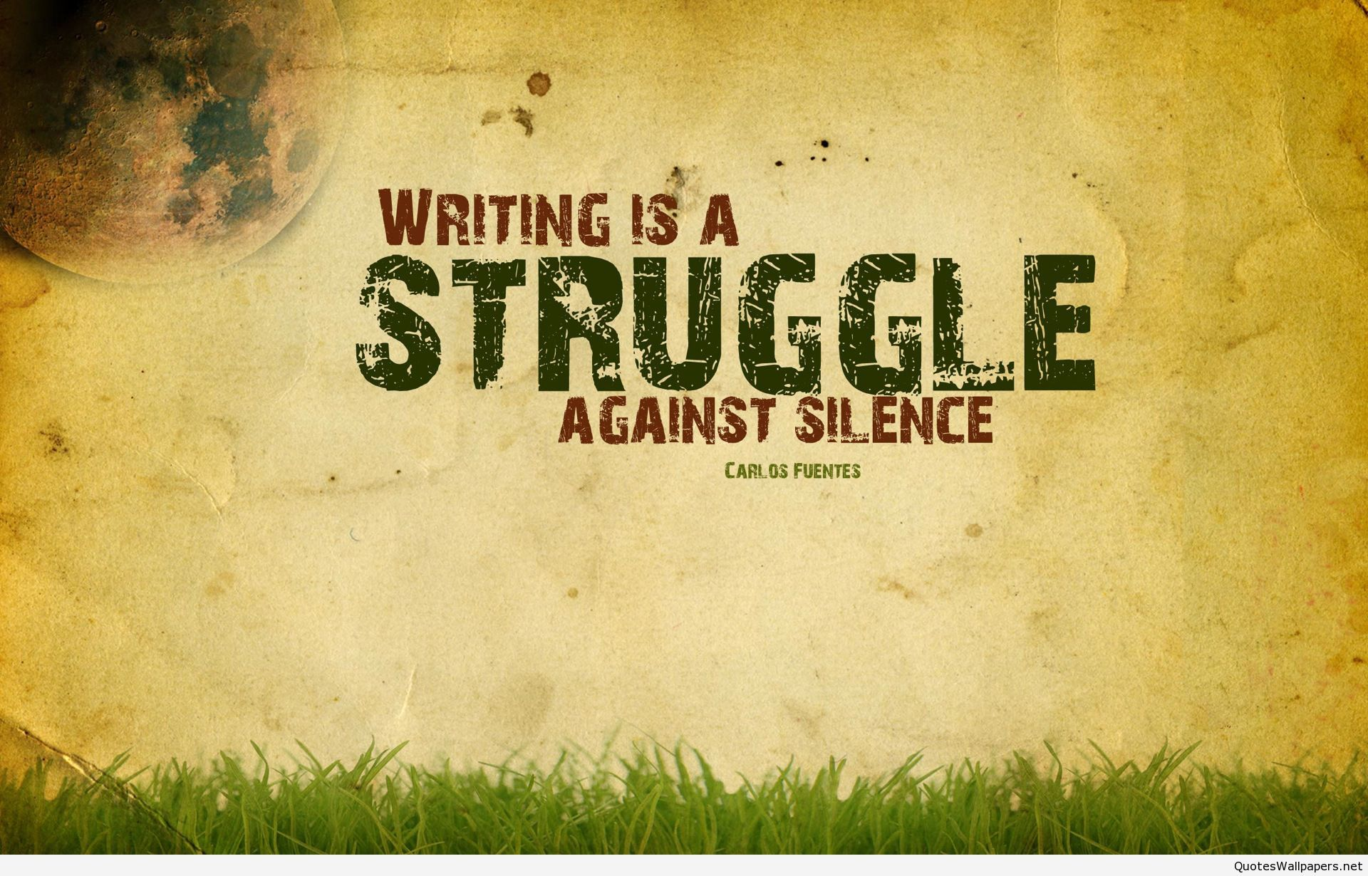 writing is a struggle quote wallpaper hd