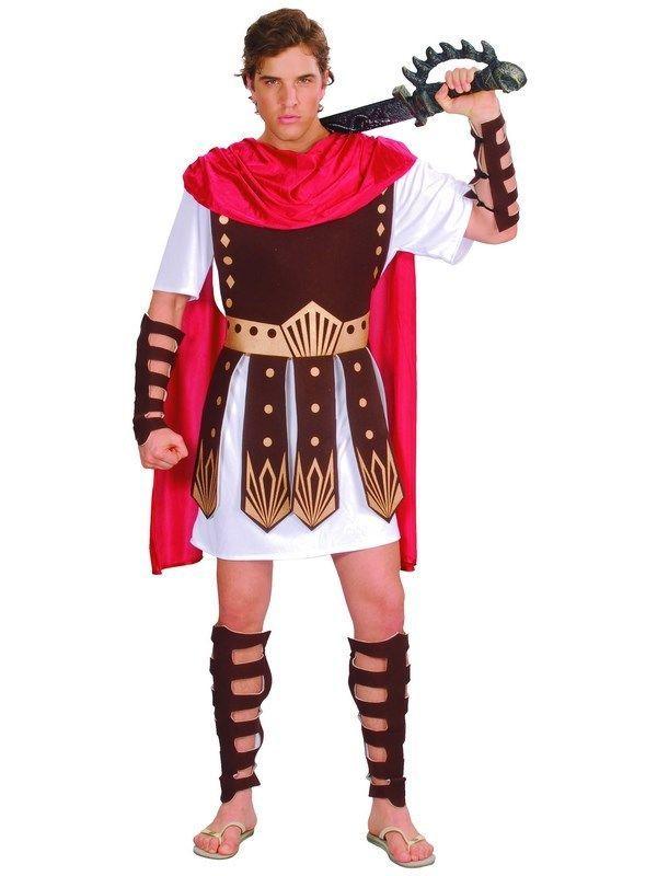 Adult Roman Gladiator Costume Mens Spartan Warrior Centurion Fancy ...
