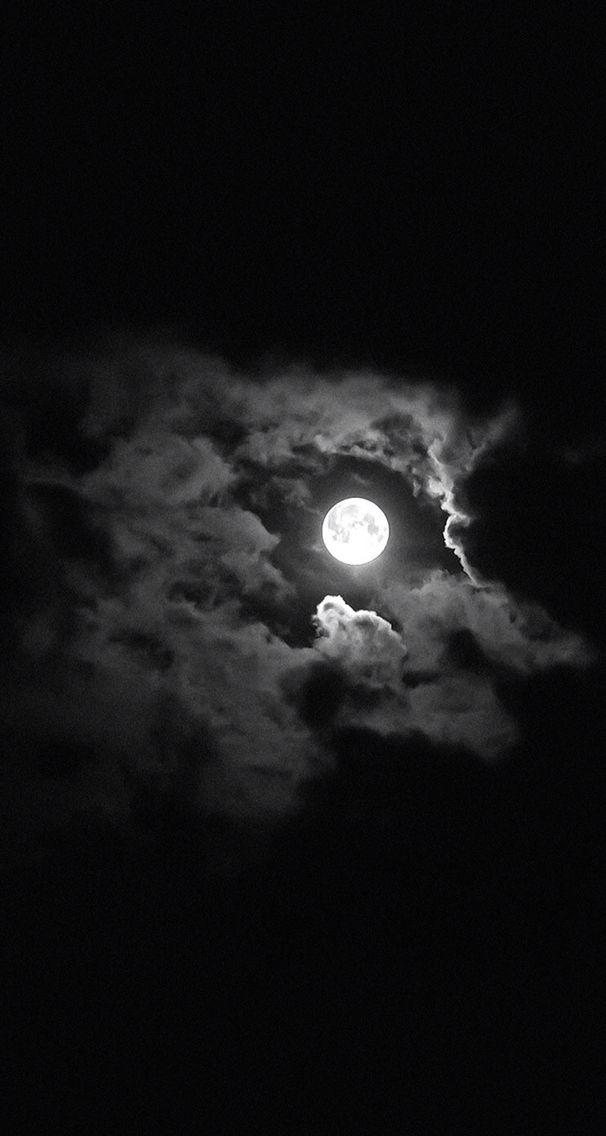 moon night black clouds
