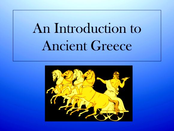 ancient greece - powerpoint presentation   ancient greece, Powerpoint templates