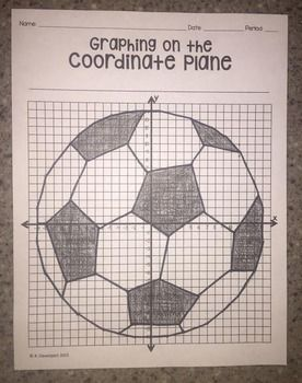 Soccer Ball Graphing On The Coordinate Plane Coordinate Plane Coordinate Graphing Graphing