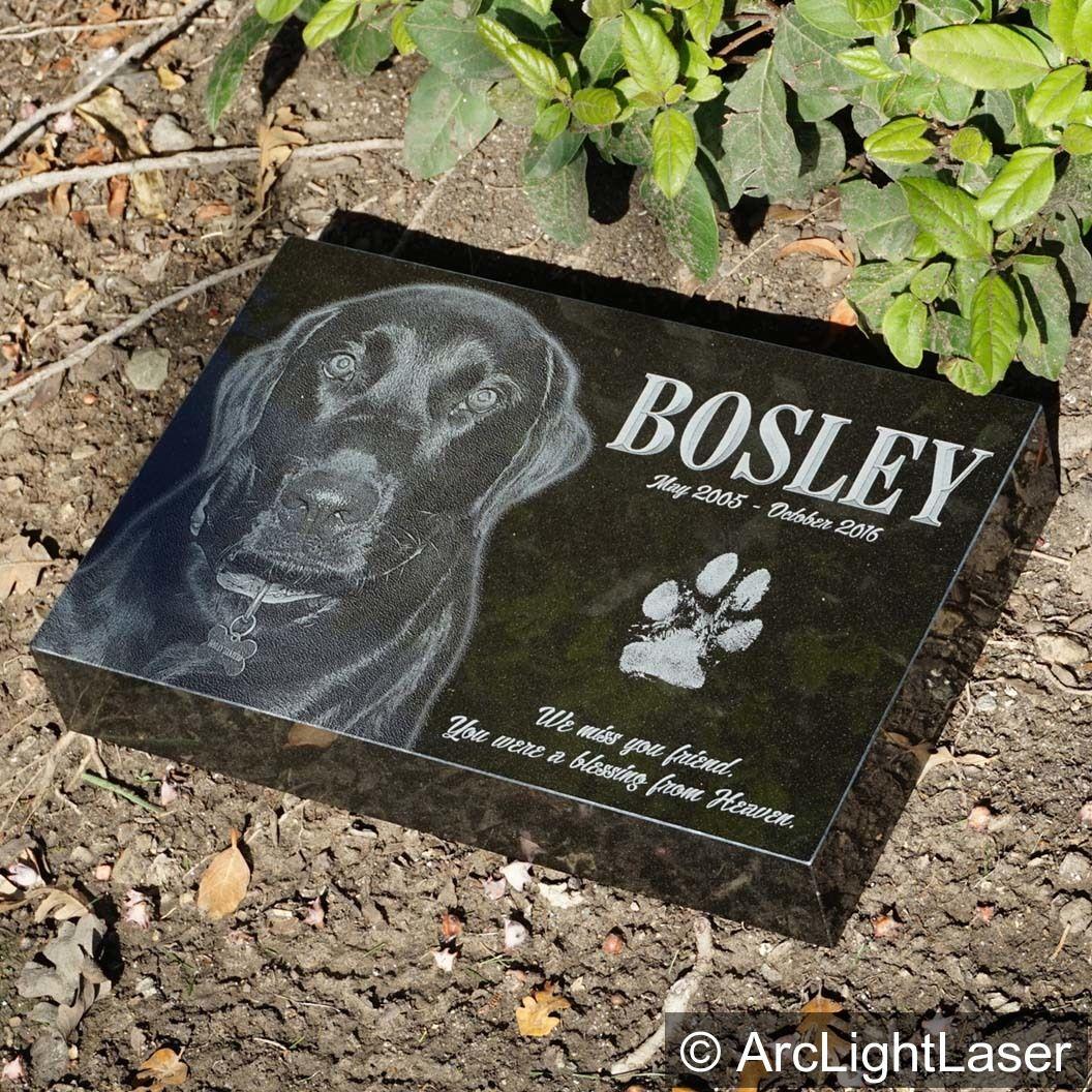Granite Pet Marker Custom Pet Memorial Laser Engraved Pet Etsy In 2020 Custom Pet Memorials Pet Marker Pet Memorials