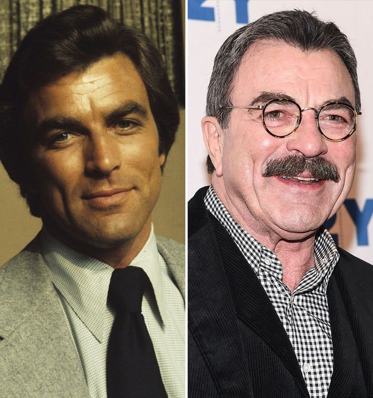 see tom selleck without his signature mustache portrait tom