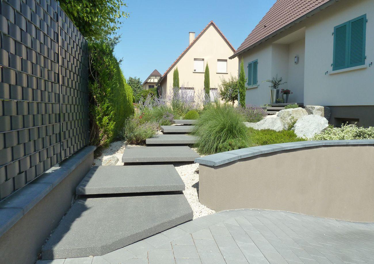 Escalier extérieur - Les Nouveaux Paysagistes | Aménagement ...