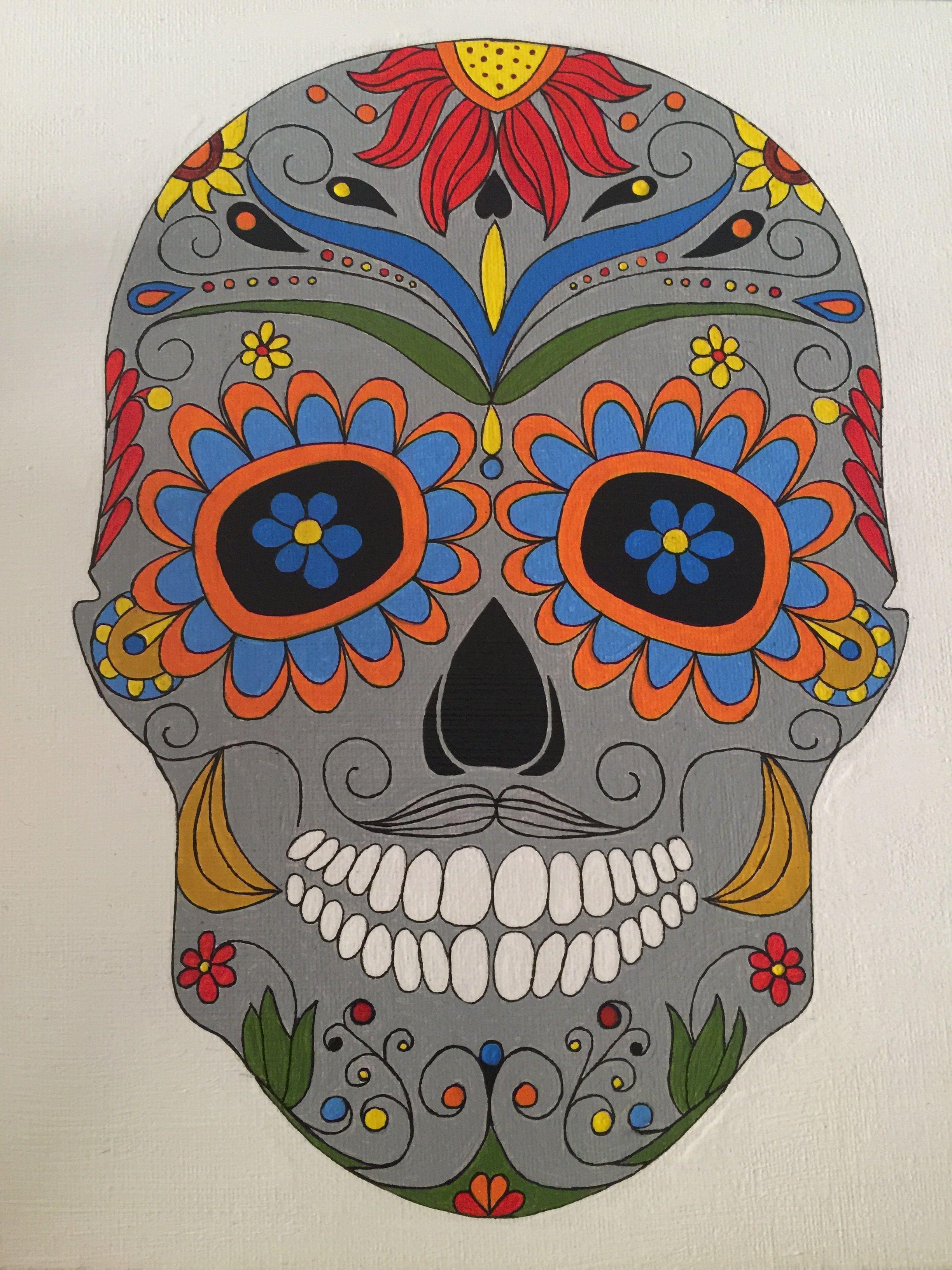 Moderno Dulces Cráneos Para Colorear Patrón - Ideas Para Colorear ...