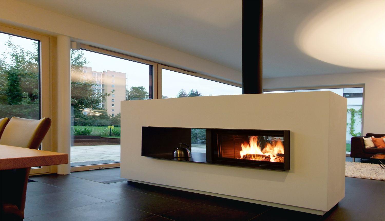 f r gro e r ume perfekt als raumteiler geeignet der kaminofen als durchsichtkamin w re das. Black Bedroom Furniture Sets. Home Design Ideas