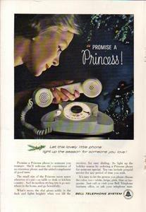 1960 BELL TELEPHONE AD PRINCESS PHONE