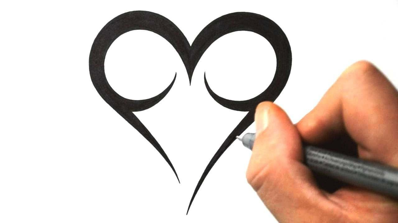 1764b3d4d How to Draw a Simple Tribal Heart - Tattoo Design 2 - YouTube | Art ...