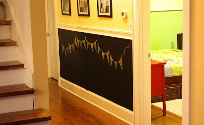 Hallway Ideas | Chalkboard walls, Chalkboards and Wainscoting panels