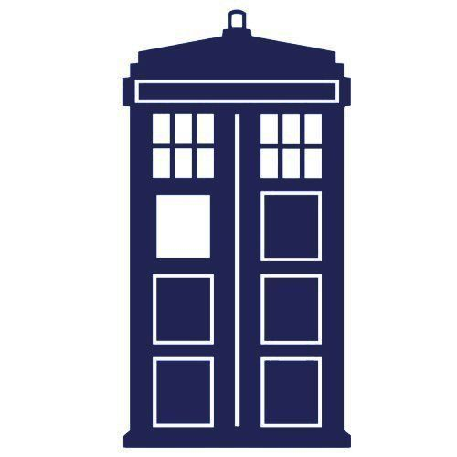 50 pcs  Doctor Who Tardis Sticker For Any Surface
