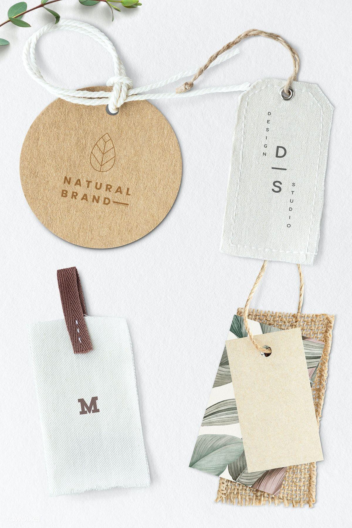 Download Download Premium Psd Of Blank Fashion Brand Label Mockup 1202092 In 2020 Organic Branding Brand Guidelines Design Fashion Branding