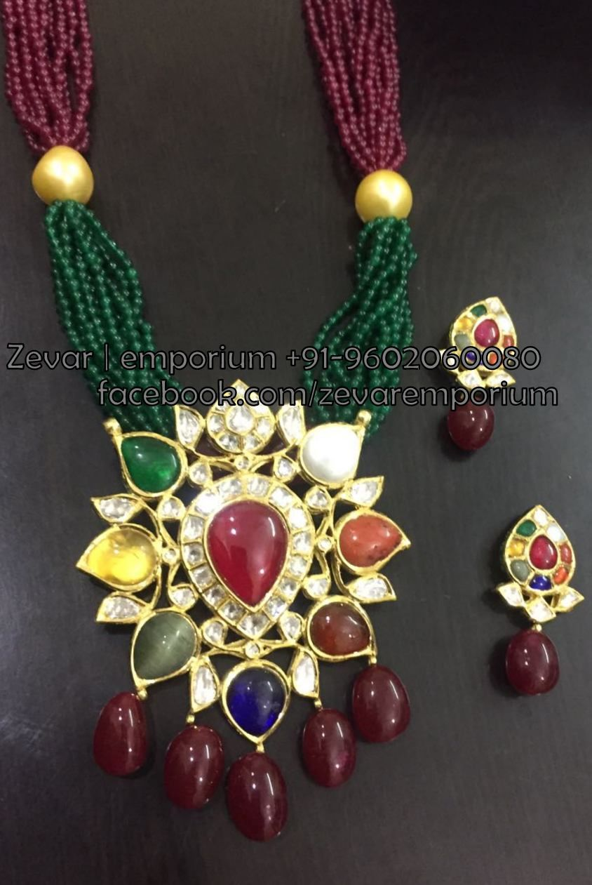 Zevaremporium indian meena polki jewellery jadau pendant
