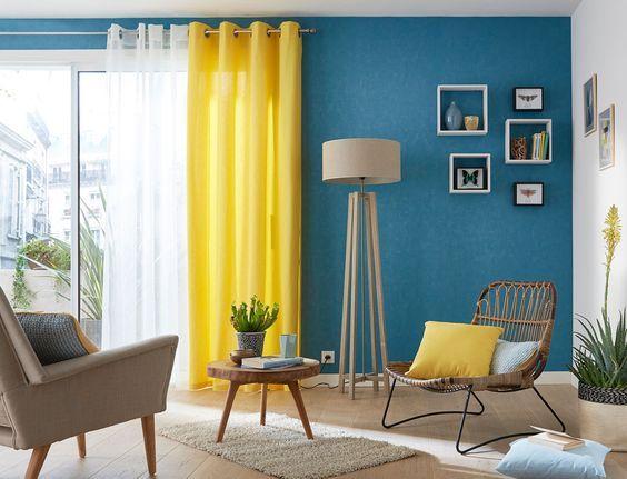16 belles int grations de jaune dans son salon kitchen. Black Bedroom Furniture Sets. Home Design Ideas