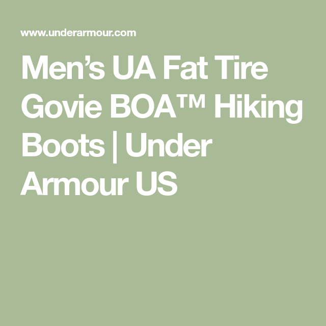 new styles ffd98 31bf6 Men's UA Fat Tire Govie BOA™ Hiking Boots | Under Armour US ...