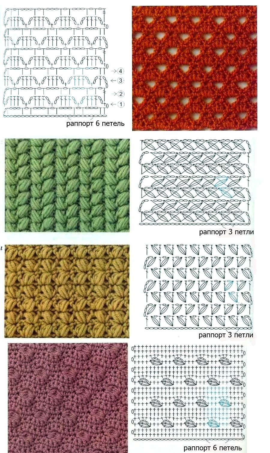 Pretty crochet stitch diagrams   Pie de cama   Pinterest   Puntos ...