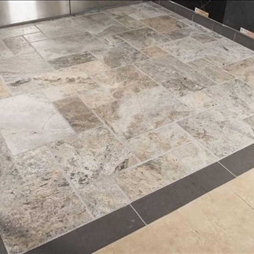 18 X 18 Travertine Field Tile Flooring Travertine Foyer Tile Ideas