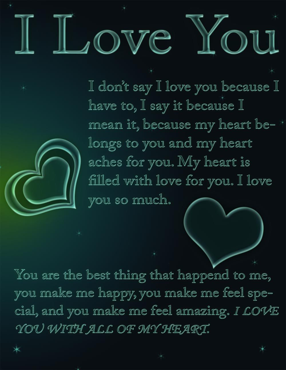 Free I Love You Ecard That You Can Send To Your Friends