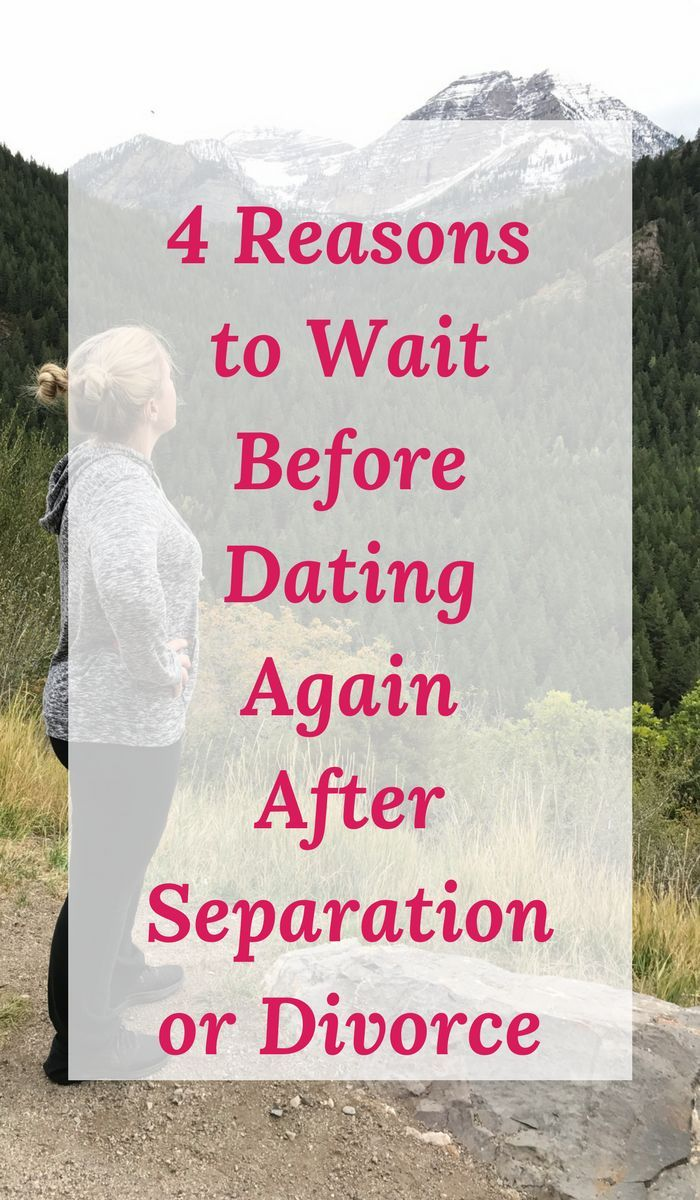 Best time to start dating after a divorce