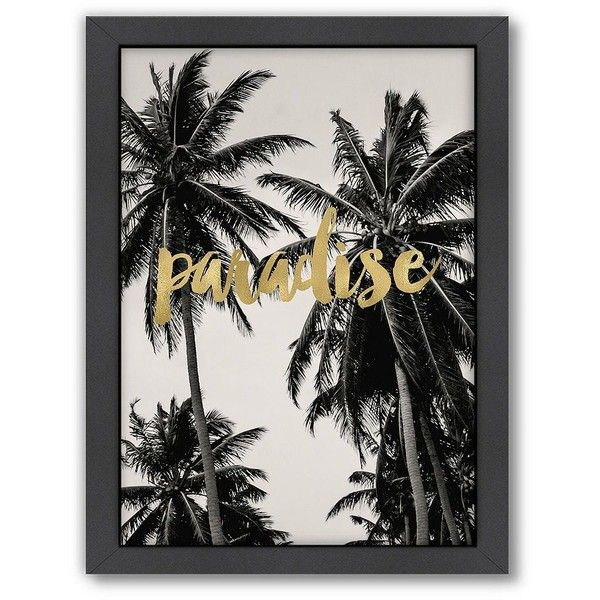 Americanflat Paradise Palm Trees Framed Wall Art 66 Liked On