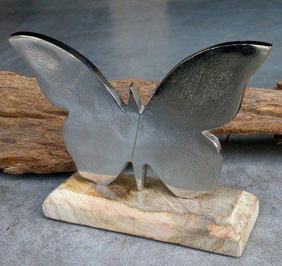 Vlinder Metaal Op Houten Voet Vlinders Vlinder Schilderij Decoratie