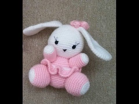 Amigurumi ) Örgü Oyuncak Sevimli Tavşan Yapımı 4 (Crochet Amigurumi ...