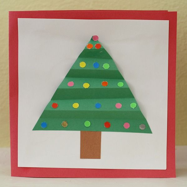 Good Make Christmas Cards With Kids Part - 14: Christmas Crafts For Kids: Homemade Christmas Card