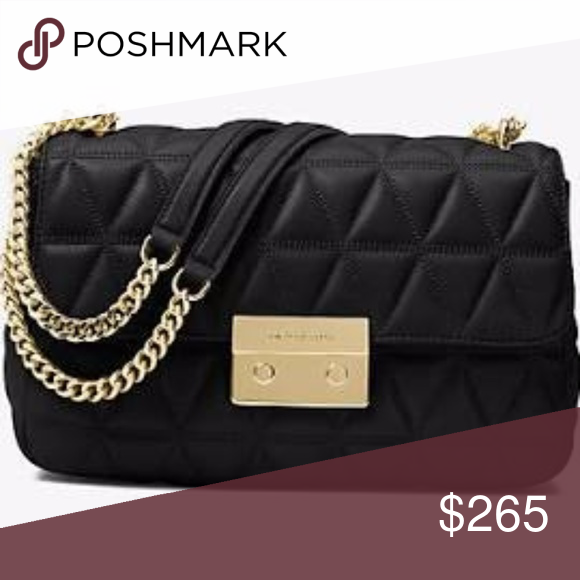 Michael Kors Vivianne Quilted Shoulder Bag Leather Just in! NEW WITH TAG! Michael  Kors Vivianne Medium Shoulder Flap Bag Leather in Black  Perfect for the ... 2b514263368d0