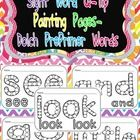 This packet includes pages for students to use for Q-Tip painting for all Dolch PrePrimer Sight Words.    The following words are included: a  and  a...